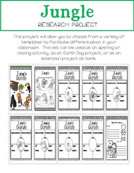 JUNGLE Research/Report Project Booklet