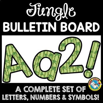 JUNGLE THEME CLASSROOM DECOR BULLETIN BOARD LETTERS PRINTABLE, NUMBERS, ETC