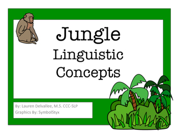 JUNGLE THEMED SPATIAL/LOCATIONAL CONCEPTS BOOK