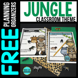 JUNGLE Theme Decor Planner by Clutter Free Classroom
