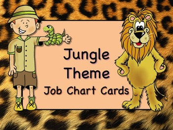 JUNGLE SAFARI Theme Job Chart Cards / Signs - Great for Classroom Management!
