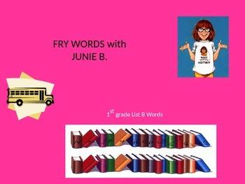 JUNIE B. JONES Fry (SIGHT) Words Powerpoint Game! 1st grad