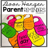 Door Hanger Parent Reminders and Notes