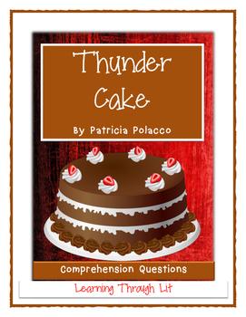 Patricia Polacco THUNDER CAKE - Comprehension & Text Evidence