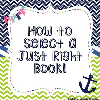 JUST RIGHT BOOK  -- How to select a Just Right Book Aquatic Theme -- Posters
