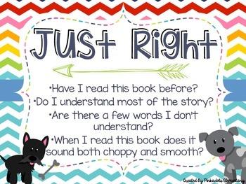 Just Right Book Poster Set! Rainbow Chevron & Dog Theme!