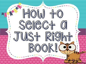 JUST RIGHT BOOK  -- How to select a Just Right Book - JUNGLE THEME- Posters