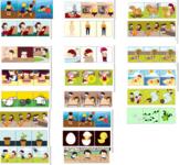 MEGA BUNDLE: Sequencing 3 Pictures, speech therapy, autism, 200 SETS, 600 PICS