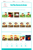 BUNDLE: PUT STORIES IN ORDER, 5 pictures sequencing, sequence, speech therapy