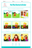 BUNDLE: PUT STORIES IN ORDER, 3 pictures sequencing, sequence, autism, speech