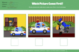 BUNDLE: WHICH COMES FIRST, 3 pictures sequencing, sequence, autism, 200 PAGES