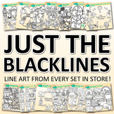 JUST THE BLACKLINES CLIP ART: BUY ALL MY LINE ART FOR WORKSHEETS