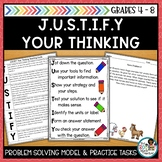 JUSTIFY Your Thinking- A Math Problem Solving Model