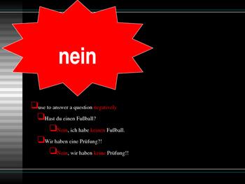 Ja Nein Doch German PowerPoint