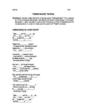 Jabberwocky Activity