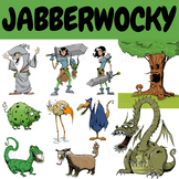 Jabberwocky Clipart - Halloween Clipart - Scary Monster Clipart