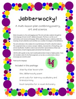 Jabberwocky Mini Poetry Unit and Visual Dictionary