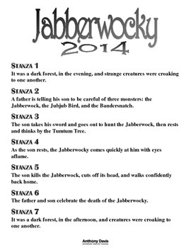 Jabberwocky Translation Class Activity