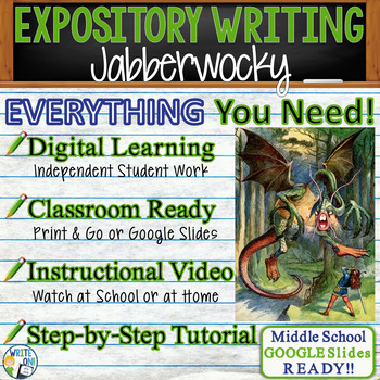Jabberwocky by Lewis Carroll - Text Dependent Analysis Expository Writing