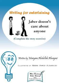 Jaber doesn't care about anyone - Problem-solving wheel writing exercise