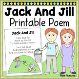 Jack And Jill Printable Poem For Poetry Music And Movement Activities!