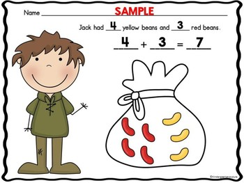 Jack And The Beanstalk Add The Room And Bonus Math Activity