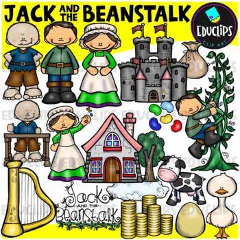 Jack And The Beanstalk Clip Art Bundle {Educlips Clipart}