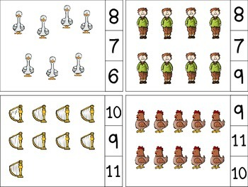 Jack And The Beanstalk Count And Clip Cards