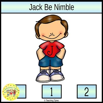 Jack Be Nimble Count and Clip Nursery Rhymes Task Cards