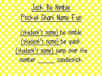 Jack Be Nimble Freebie