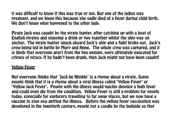 Jack Be Nimble, Jack Be Quick (Pirates, Oceans, Fever)