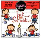 Jack Be Nimble Nursery Rhyme Clip Art Bundle {Educlips Clipart}