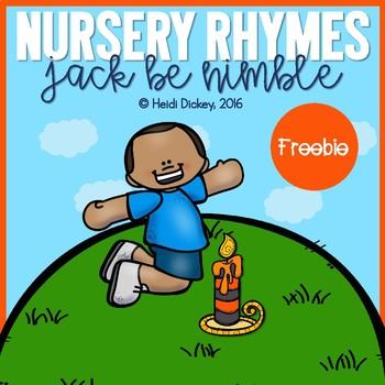 Jack Be Nimble Nursery Rhyme FREEBIE Pack