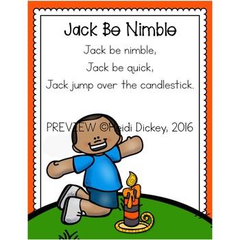Jack Be Nimble Nursery Rhyme FREEBIE Pack by Heidi Dickey ...