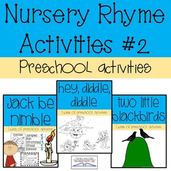 Preschool Nursery Rhyme Activities #2 | TpT