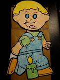 Jack Be Nimble nursery rhyme paper bag puppet