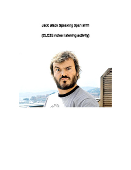 Jack Black speaks Spanish (CLOZE notes listening activity)