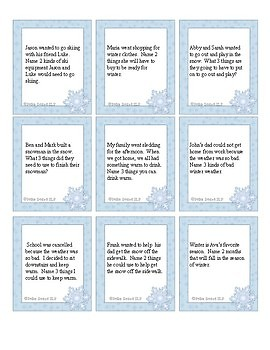 Winter Category Practice for Speech/Language