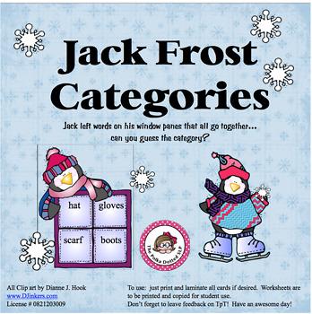 Jack Frost Categories!