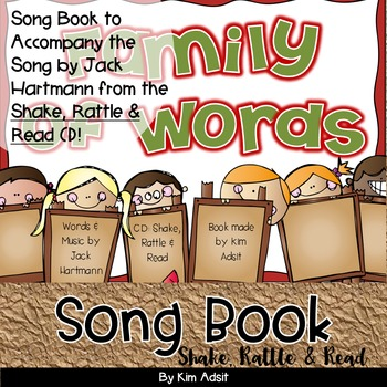 Jack Hartmann Family of Words Fun Music Book
