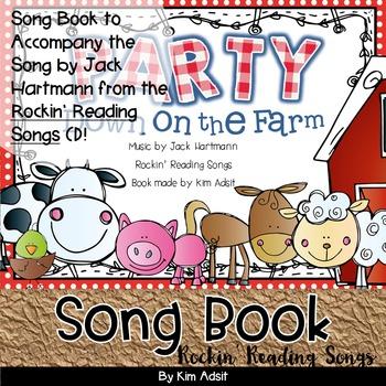 Jack Hartmann Party Down on the Farm Fun Music Book