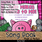Jack Hartmann That Makes Sense to Me Fun Music Book