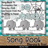 Jack Hartmann Three Elephants Music Book