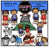 Jack & Jill Nursery Rhyme Clip Art Bundle {Educlips Clipart}
