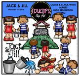 Jack & Jill Nursery Rhyme Clip Art Bundle {Educlips Clipart}