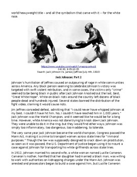 Jack Johnson: African American Boxing Legend