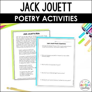 Jack Jouett Poetry Activities Packet