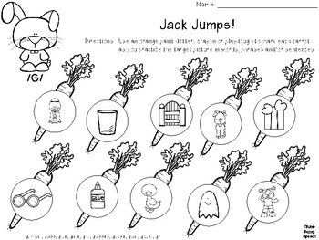 Jack Jumps - Game Companion/Articulation Activity
