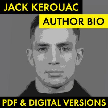 Jack Kerouac Author Study Worksheet, Easy Biography Activity, CCSS