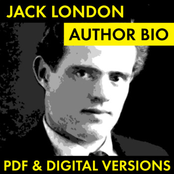 Jack London Author Study Worksheet, Easy Jack London Biography Activity, CCSS